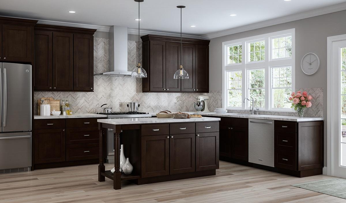 Espresso RTA Kitchen Cabinets