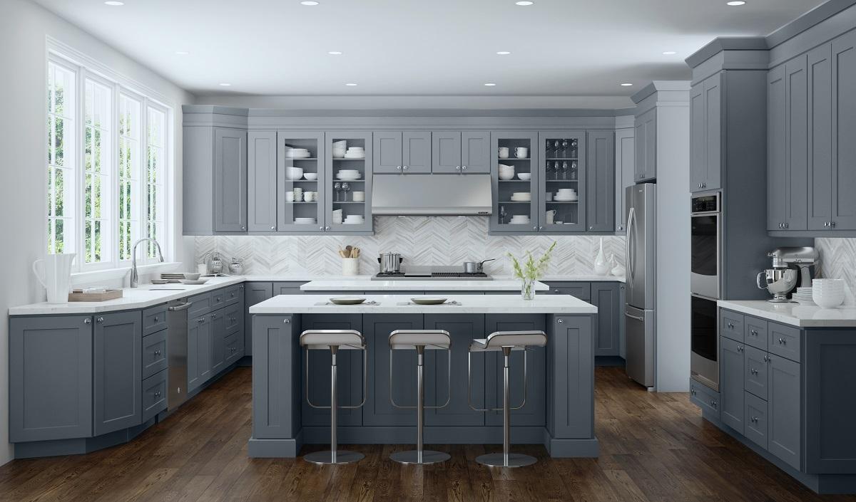 Dark Gray RTA Cabinets
