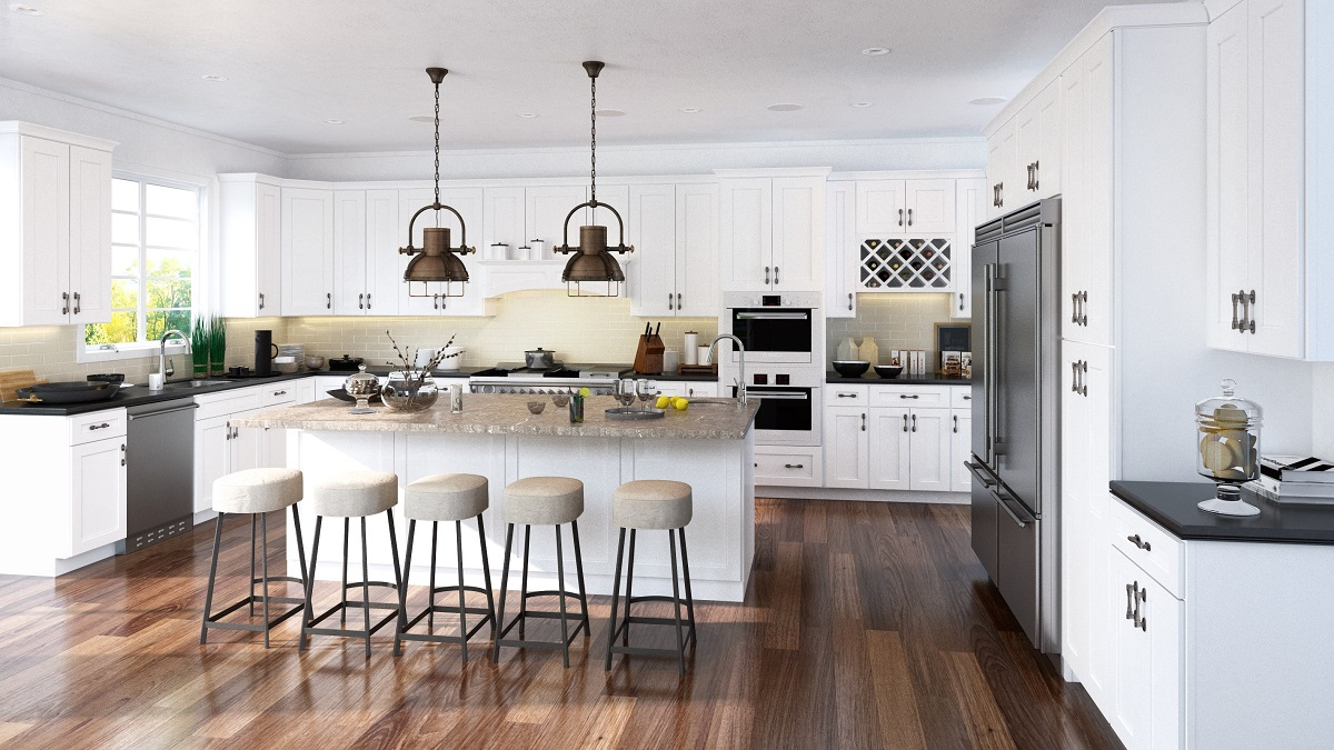 White Shaker RTA Kitchen Cabinets