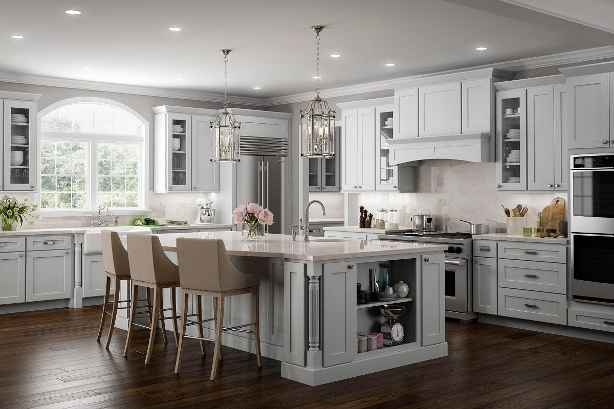 Light Gray RTA Kitchen Cabinets