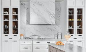 New kitchen featuring Fabuwood Onyx Frost shaker white kitchen cabinets