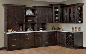 New kitchen featuring Skyline Espresso shaker stained RTA kitchen cabinets