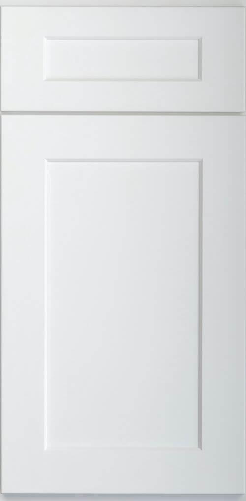 Skyline White white shaker RTA kitchen cabinets door and drawer sample