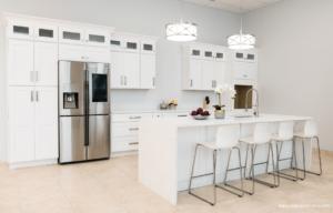 New kitchen featuring Skyline White shaker white RTA kitchen cabinets