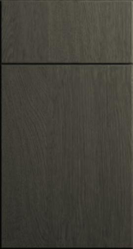 CNC Cabinetry Matrix Greystone gray laminate shaker kitchen cabinets door and drawer sample