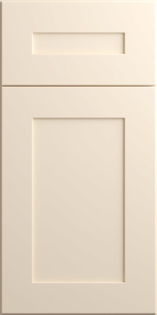 Ideal Cabinetry Napa Blended Cream off-white shaker kitchen cabinets door and drawer sample