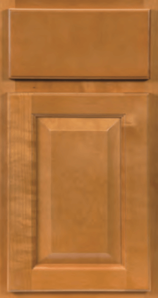 CNC Cabinetry Sierra Toffee stained traditional kitchen cabinets door and drawer sample