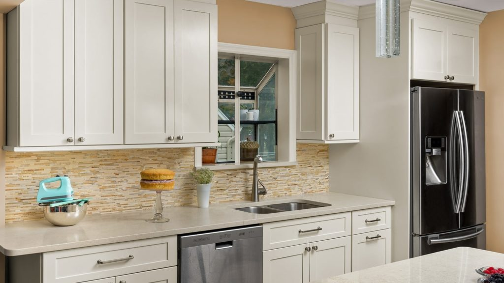 Off white kitchen cabinets developed by walcraft cabinetry