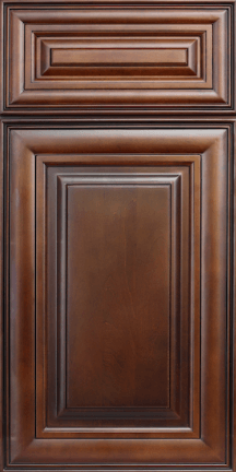 ROC Cabinetry Classic Chocolate stained traditional rta kitchen cabinets door and drawer sample