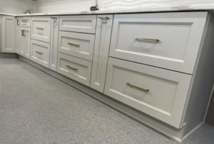New kitchen featuring ROC Cabinetry Escada Dove off-white shaker rta kitchen cabinets