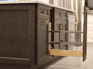 New kitchen featuring ROC Cabinetry Escada Vintage Gray dark gray shaker rta kitchen cabinets