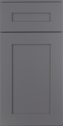 ROC Cabinetry Pebble Gray dark gray shaker rta kitchen cabinets door and drawer sample