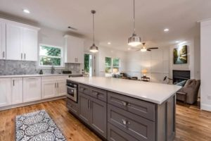 New kitchen featuring ROC Cabinetry Pebble Gray dark gray shaker rta kitchen cabinets