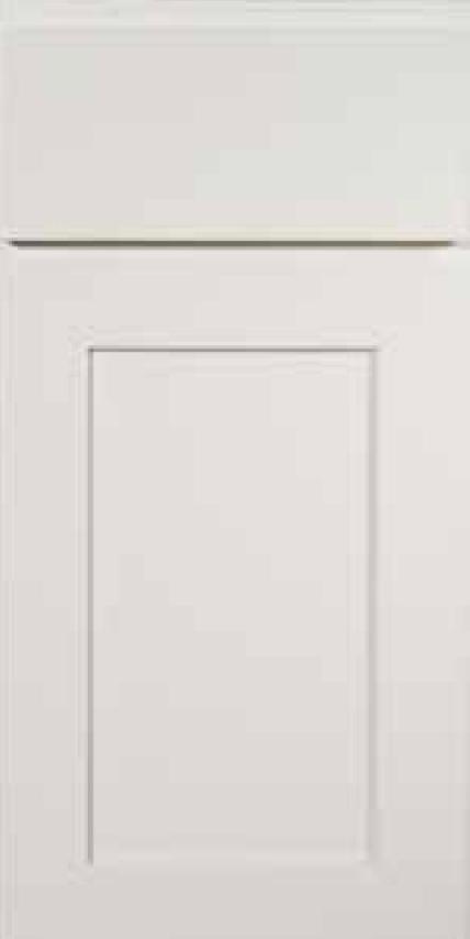 KCD Cabinets Shaker Designer White Slab white shaker assembled kitchen cabinets door and drawer sample