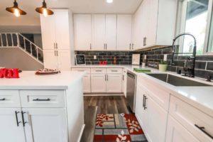 New kitchen featuring CCD White Shaker white shaker rta kitchen cabinets2