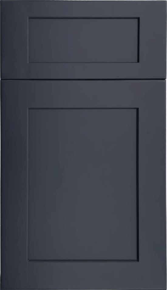 Fabuwood Galaxy Indigo shaker blue stained kitchen cabinets door and drawer sample